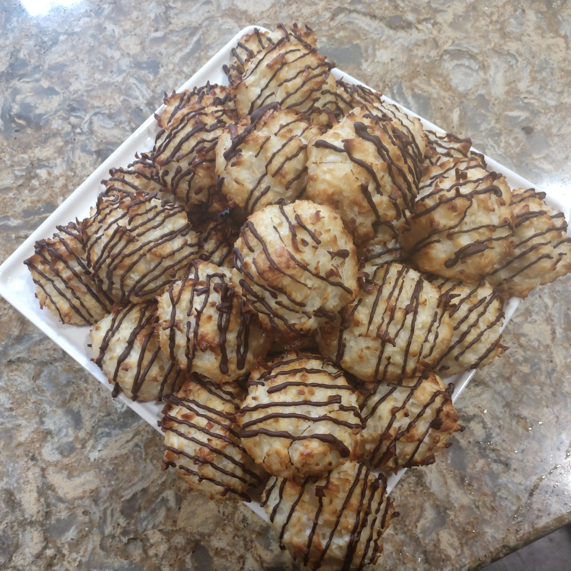 Chocolate drizzled